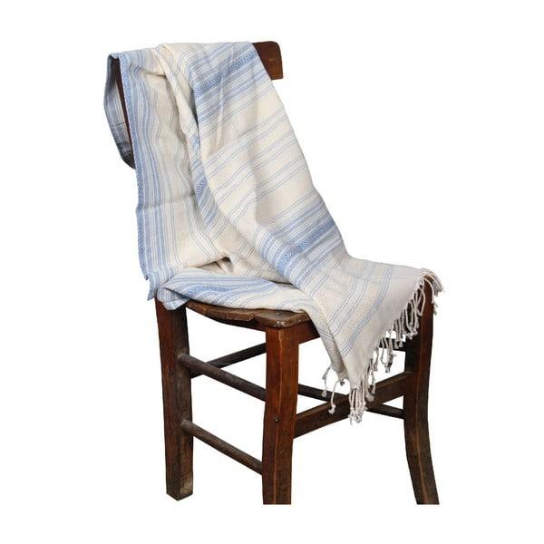 Jasnoniebieski ręcznik hammam Artemis Light Blue, 90x190cm