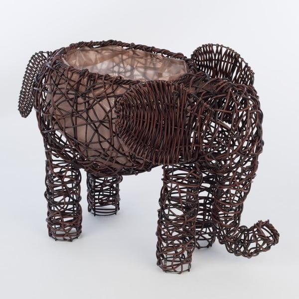 Dekoracyjna rattanowa doniczka Elephant