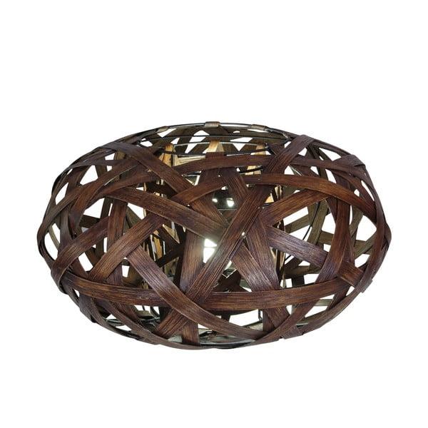 Brązowa lampa stołowa Korb