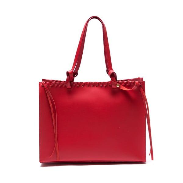 Skórzana torebka Felicia, czerwona
