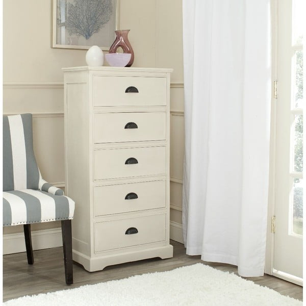Biała komoda z szufladami Safavieh Kensington