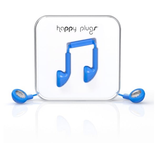 Słuchawki Happy Plugs, niebieskie