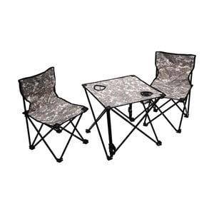 Zestaw 2 składanych krzesełek kempingowych i stolika Cattara Verona