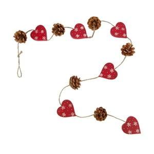 Girlanda z 6 serduszkami Antic Line Hearts and Pinecones