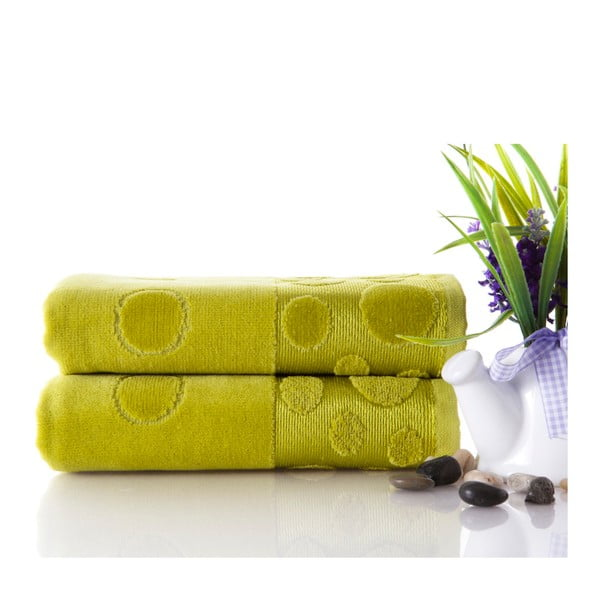 Zestaw 2 ręczników Tropical Green 50x90 cm