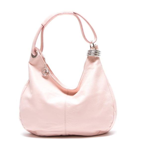 Skórzana torebka Hobo, różowa