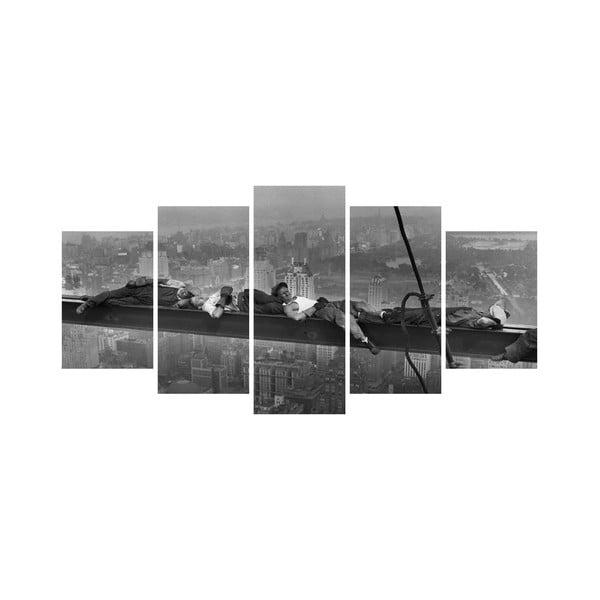 Wieloczęściowy obraz Black&White no. 8, 100x50 cm