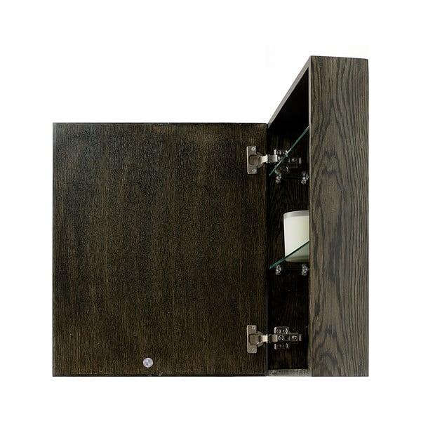 Lustro z szafką Mezza Dark, 45x55 cm