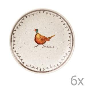 Zestaw 6 talerzy deserowych Churchill China Wildlife, 20 cm