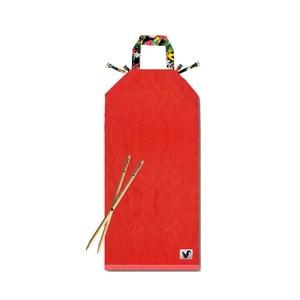 Czerwony leżak plażowy Origama Dark Tropic