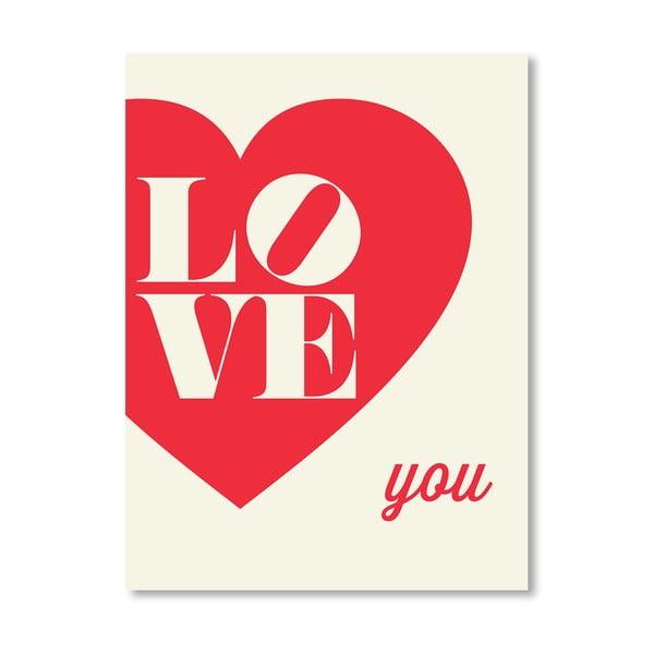 "Plakat ""Love You Heart"", 42x60 cm"