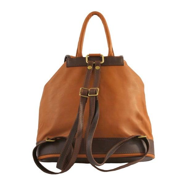 Brązowy plecak skórzany Chicca Borse Becky
