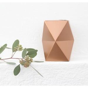 Składany wazon origami SNUG.Low Copper