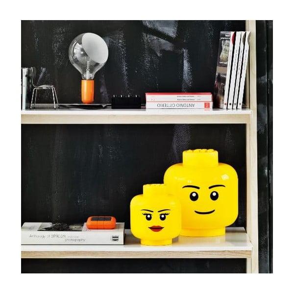 Duży pojemnik w kształcie głowy LEGO® Boy, Ø 24,2 cm