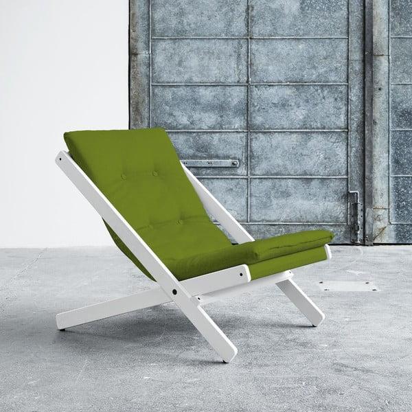 Fotel składany Karup Boogie White/Lime