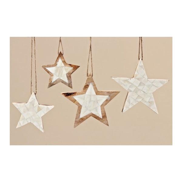 Zestaw 4 gwiazd dekoracyjnych Boltze Yvi