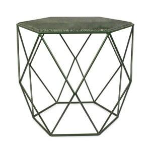 Zielony stolik z marmurowym blatem HF Living Gemstone