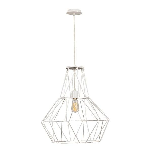 Biała lampa wisząca Cage Diamond