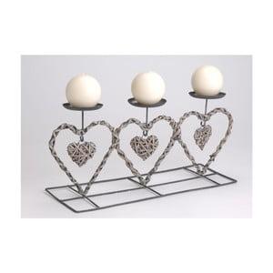 Świecznik Country Hearts Trio