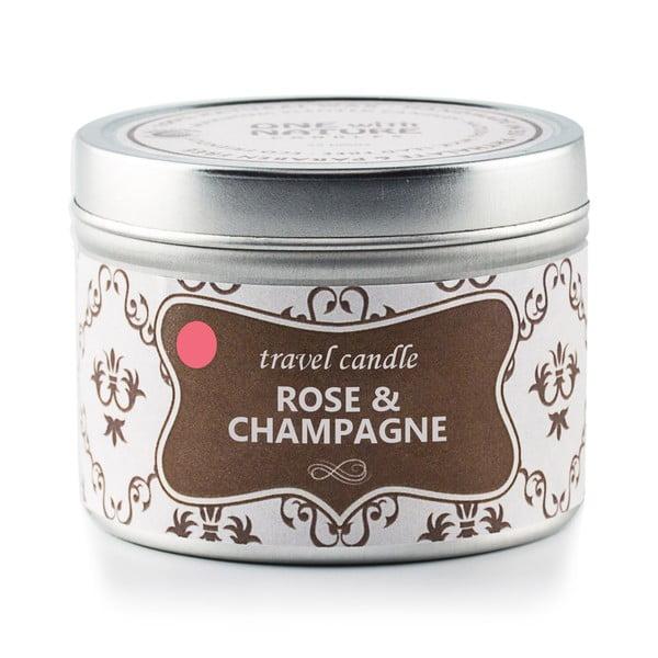 Świeczka zapachowa w puszce Rose and Champagne