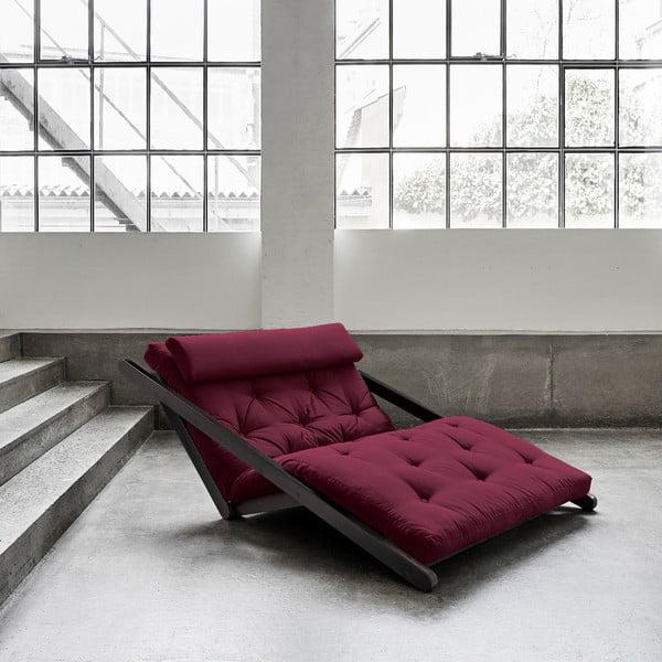Sofa rozkładana z ciemnoczerwonym pokryciem Karup Figo Black