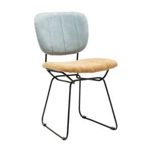Niebiesko-żółte krzesło do jadalni Kare Design Malmo