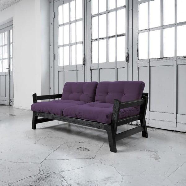 Sofa rozkładana Karup Step Black/Purple