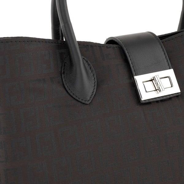 Skórzana torebka Tes Black