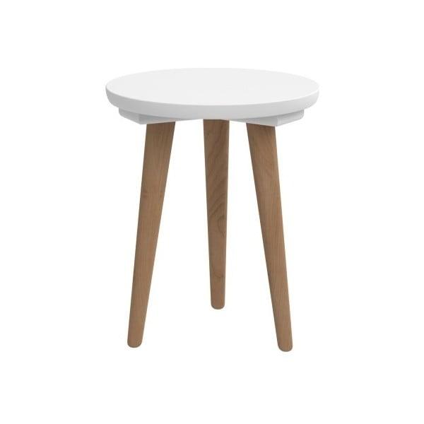 Stół D2 Bergen, 30 cm, biały