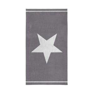 Szary ręcznik Seahorse Star, 100x180 cm