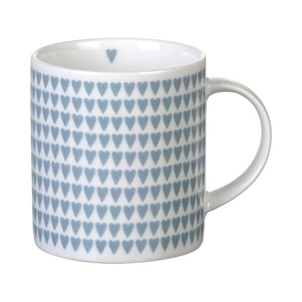 Niebieski porcelanowy kubek Parlane Hearts, 8,5 cm