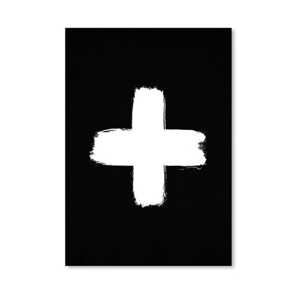 Plakat Cross Black