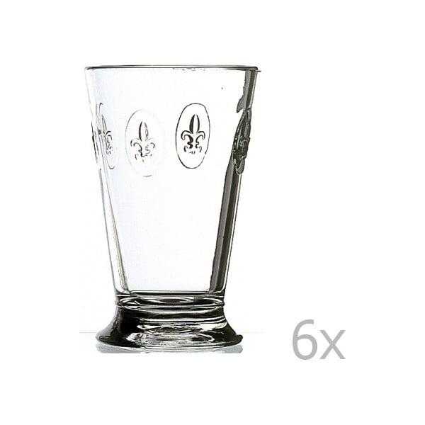 Zestaw 6 szklanek Fleur de Lys, 300 ml