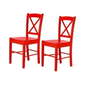 Zestaw 2 czerwonych krzeseł Støraa Trento Cross