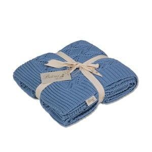 Niebieski koc bawełniany Cotton