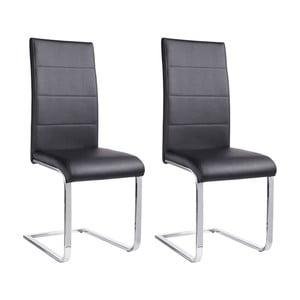 Zestaw 2 czarnych krzeseł Støraa Cara
