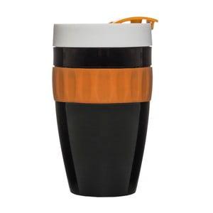 Czarno-pomarańczowy kubek termiczny To Go Mug, 400 ml