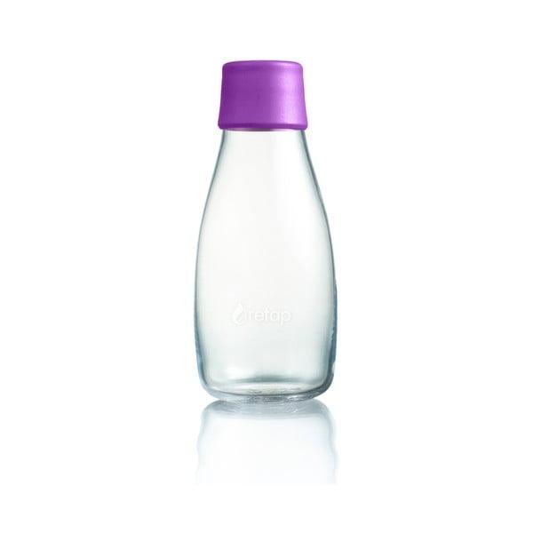 Fioletowa butelka ze szkła ReTap z dożywotnią gwarancją, 300 ml
