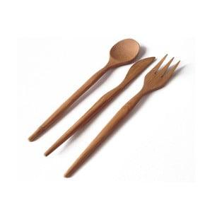 Bambusowy zestaw sztućców Bambum, 18 szt.
