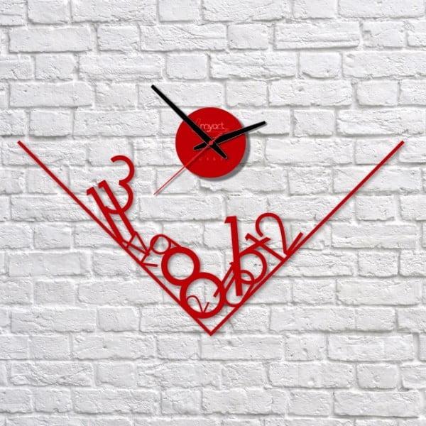 Zegar ścienny Red Get Lost
