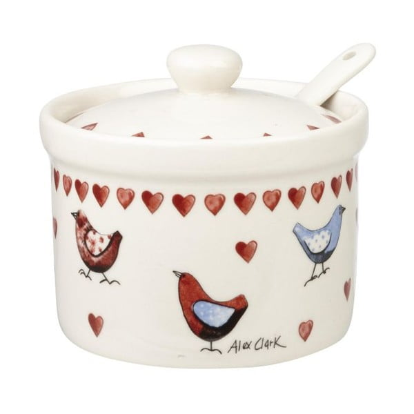 Cukierniczka z łyżeczką Lovebirds
