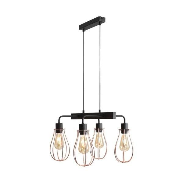 Czarna lampa sufitowa Octans Grupo