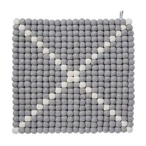 Dywan modułowy Wool Mat Grey/White, 40x40 cm