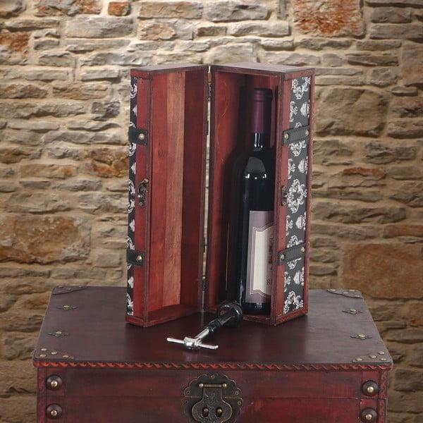 Drewniane pudełko na butelkę wina Vintage