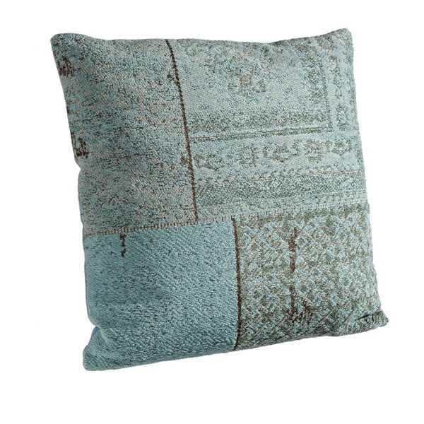 Poduszka z wypełnieniem Twist Turchese, 50x50 cm