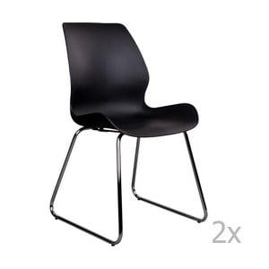 Zestaw 2 czarnych krzeseł House Nordic Sola