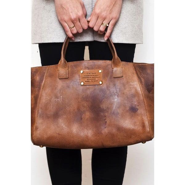 Brązowa   torebka skórzana O My Bag Fly Violet Midi
