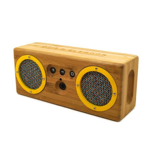 Przenośny bambusowy głośnik Yellow Blue & Orange Bongo