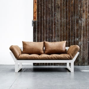 Sofa Karup Vintage Edge White/Cognac