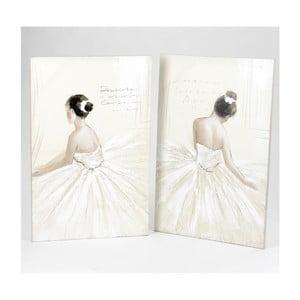 Zestaw 2 obrazów Dancing Girls, 100x65 cm